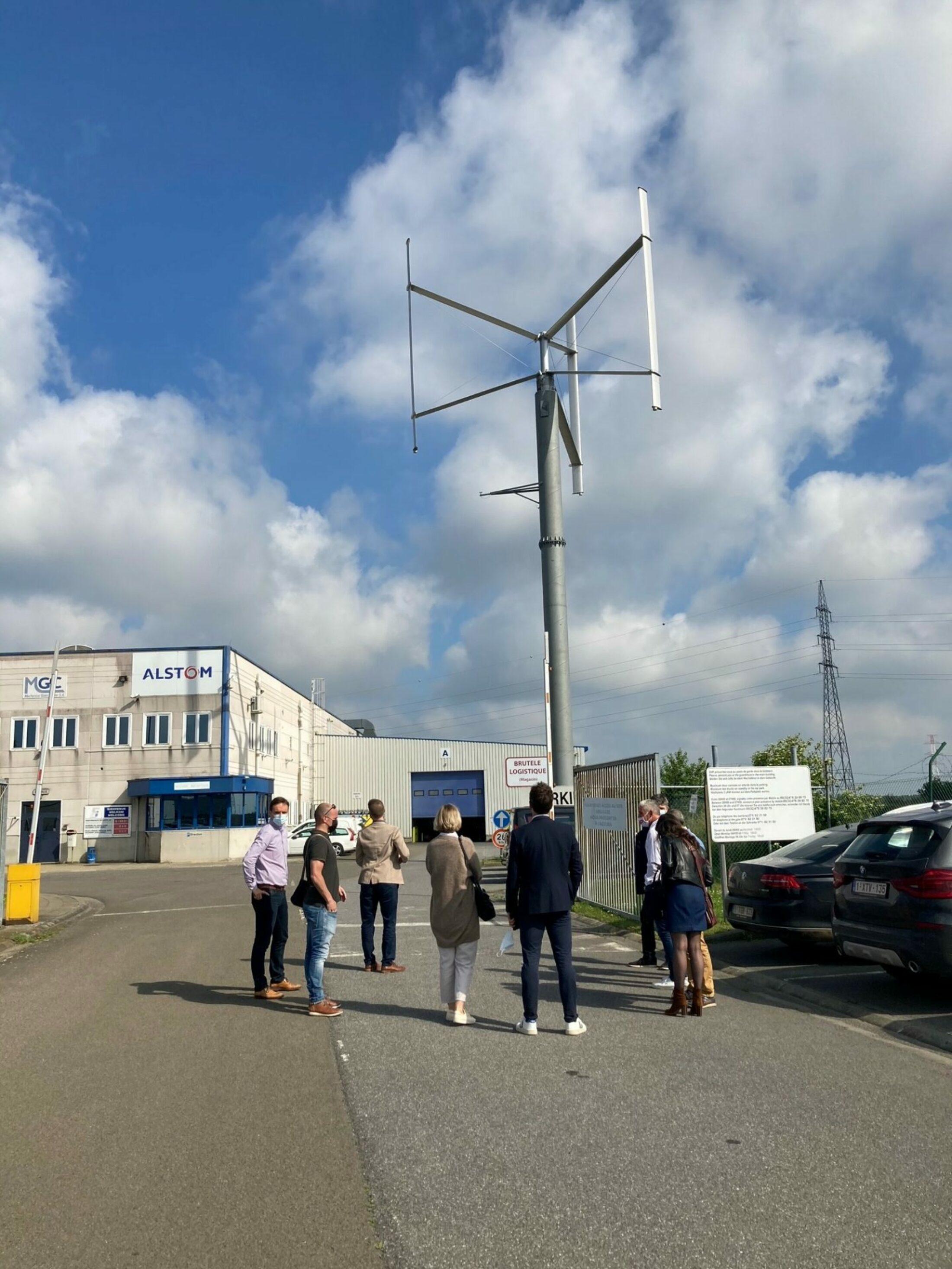 Visite de Fairwind, leader belge du petit éolien vertical